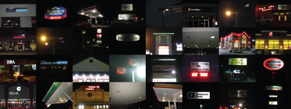 Photo montage of numerous lighting and sign outages