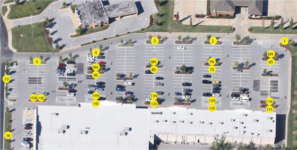 Parking Lot Lighting Plot Plan
