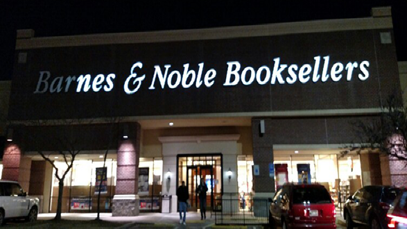 Barnes   Noble Channel Letters Night SurveyAdvanced Lighting   Sign Service   Our Services. Advanced Lighting Services. Home Design Ideas